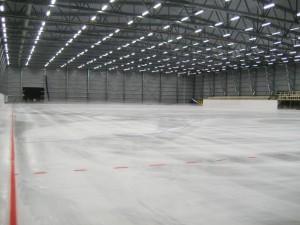 Švédska hala na bandy hokej - športové oceľové haly LLENTAB