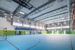 Telocvičňa v Mělníku - LLENTAB oceľové športové haly