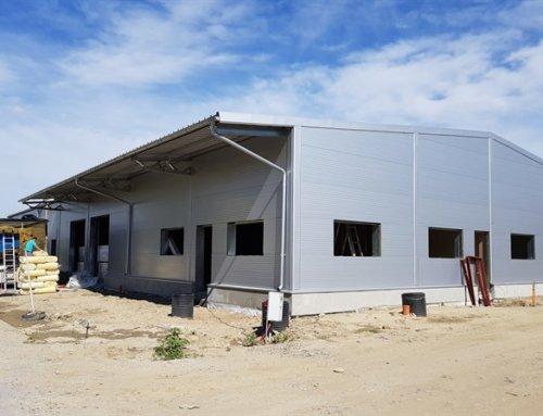 Dokončené stavby júl 2017: Skladová hala v Stupave, medziposchodie oceľovej haly v Čadci
