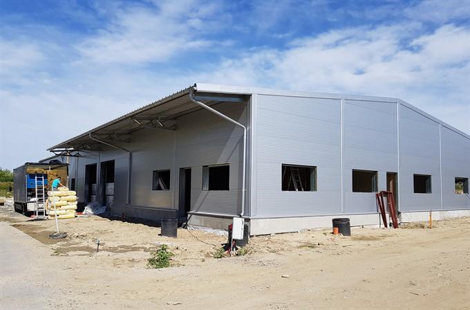 Skladová hala v Stupave, montovaná skladová hala, skladové haly cenna