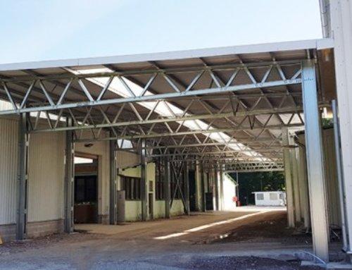Vybrané dokončené haly v auguste 2018
