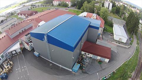 Chladiarenska hala, potravinarska hala, výrobna hala - stavba, dodanie, montaz LLENTAB