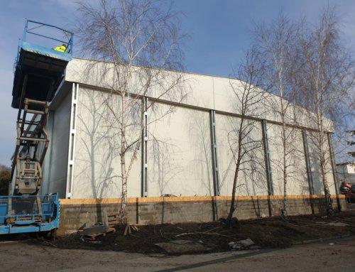 Vo februári sme dokončili nové výrobné a skladové haly