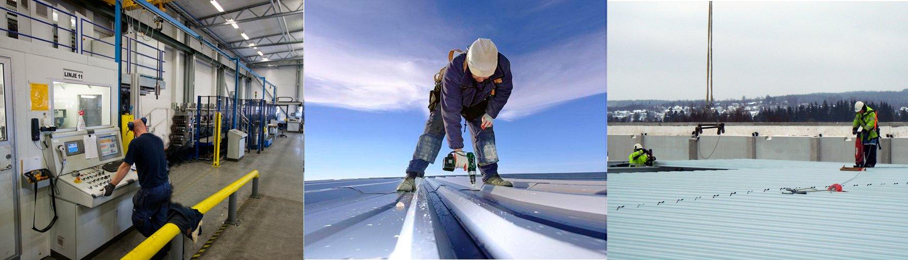 LLENTAB oceľové haly - pracovné prostredie a bezpečnosť