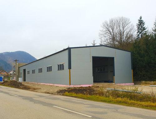 V decembri sme dokončili montáž novej skladovej haly