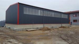 nezateplená skladová hala Nové Mesto nad Váhom - výroba montovaných oceľových hál - dokončenie február 2017