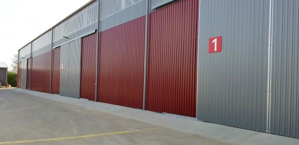 SK0259 BKP REAL, skladová hala - dodávateľ LLENTAB montované oceľové haly