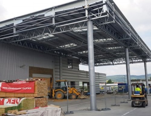 Vybrané dokončené haly v júli 2018