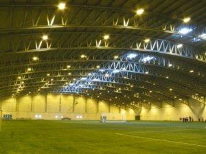 Montované oceľové športové haly LLWNTAB, priehradové väzníky