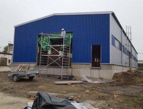 Dokončené stavby november 2016: Administratívna hala v Košiciach, výrobná hala v Častej