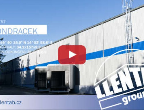 Video z výstavby skladovej haly CZ0757, Josef Vondráček.